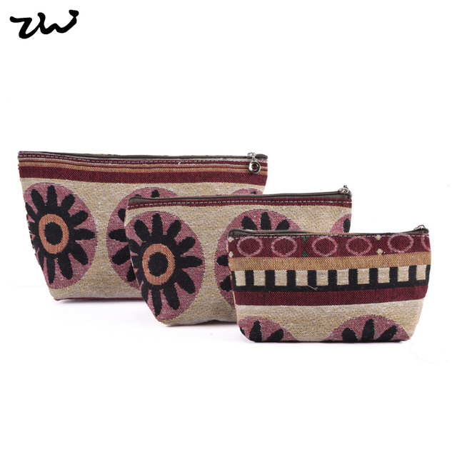 ZIWI Brand Palace Casual Cosmetic Bag Canvas Top Quality Make Up Fashion Cosmetics TB240