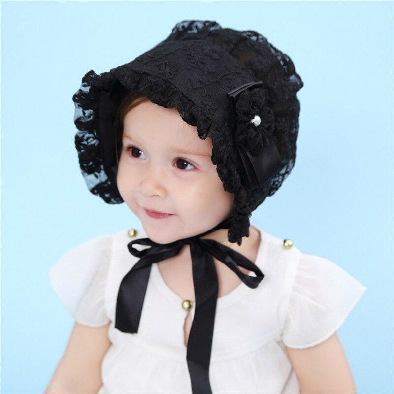 Кружева для маленьких девочек шляпа летом Новая коллекция прекрасный цветок капот Мода принцесса малыша новорожденного для 6-12 месяцев