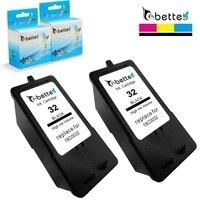 2PK  Cartuchos de tinta para Impressora Lexmark 32 18C0032 P4330 P4350 P6250 P6350 P6200 P910 P915 X4300 X3350 X5250 X5260 X5270 X5400