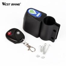 WEST BIKING Bike Burglar Alarm Lock Wireless Remote Control Safety Vibration Sensor Loudly Antivol Velo MTB Cycling Bicycle Lock