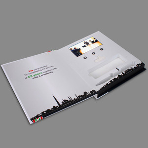 Image 5 - custom made hardcover 7inch Screen Brochure Universal Video Greeting Cards Fashion Design Video Advertising Cards