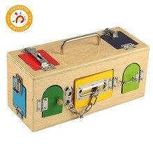Montessori Kids Toy High-Quality Colorful Lock Box Educational Preschool Training Toys