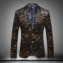 Fashion high quality Male velvet suit outerwear personalized