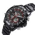 Naviforce relogio masculino relógios homens marca de luxo relógio de quartzo dos homens do esporte militar digital relógio de pulso relógio de aço completo 9031