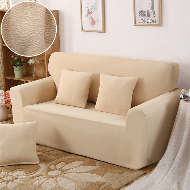 Solid Thick Stretch Furniture Covers For Sofa Chair Slipcovers Pet Sofa  Protector Cover Chaise Longue L