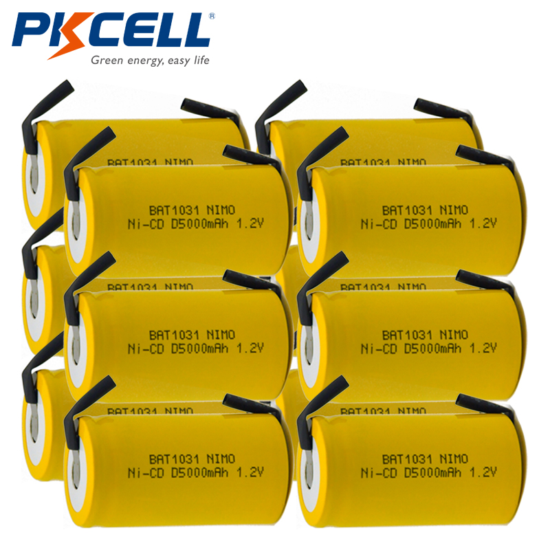 Universal Charger 4-Pack D 5000 mAh NiCd Rechargeable Batteries