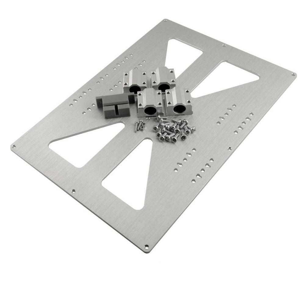 ФОТО RepRap 3D Printer Prusa i3 Y Carriage Plate XL 300x200 Kit /w 4 x SC8UU Upgrade
