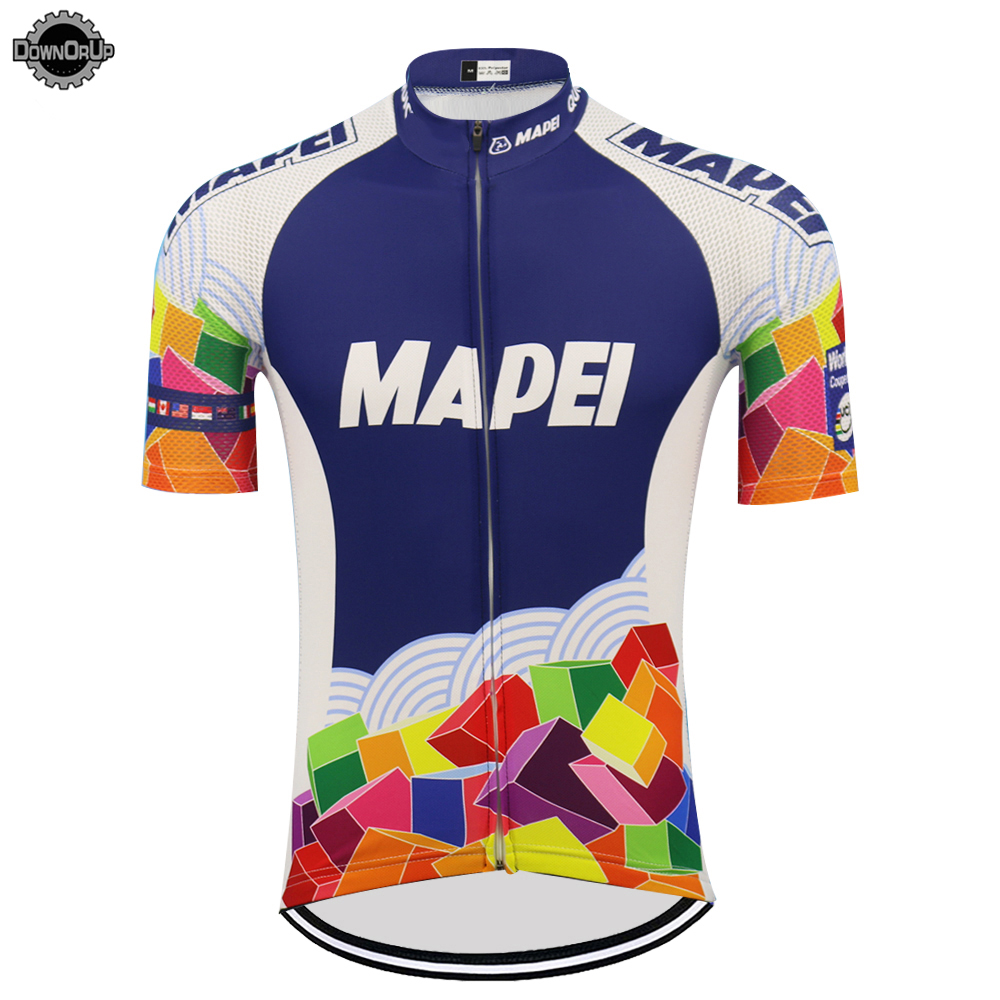 Retro MAPEI cycling jersey ropa ciclismo men short sleeve bike wear jersey summer cycling go pro mountain bicycle clothes MTB