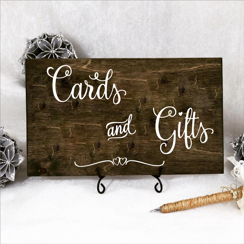 Cards and Gifts Charming Wedding Sign