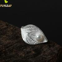 925 Sterling Silver Dewdrops Liście Otwarte Pierścienie Dla Kobiet Wysokiej Jakości Fashion Lady Prezent Zapobiegać Alergii Sterling-srebrny-biżuteria