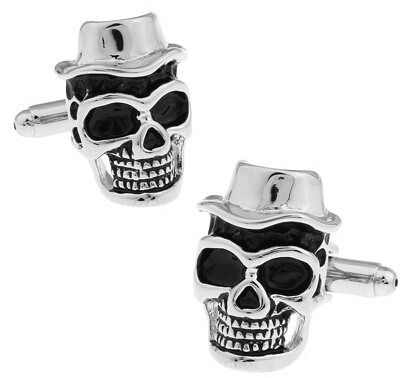 Skull Cufflinks 11 Styles Option Vintage Novelty Skeleton Design Copper Material