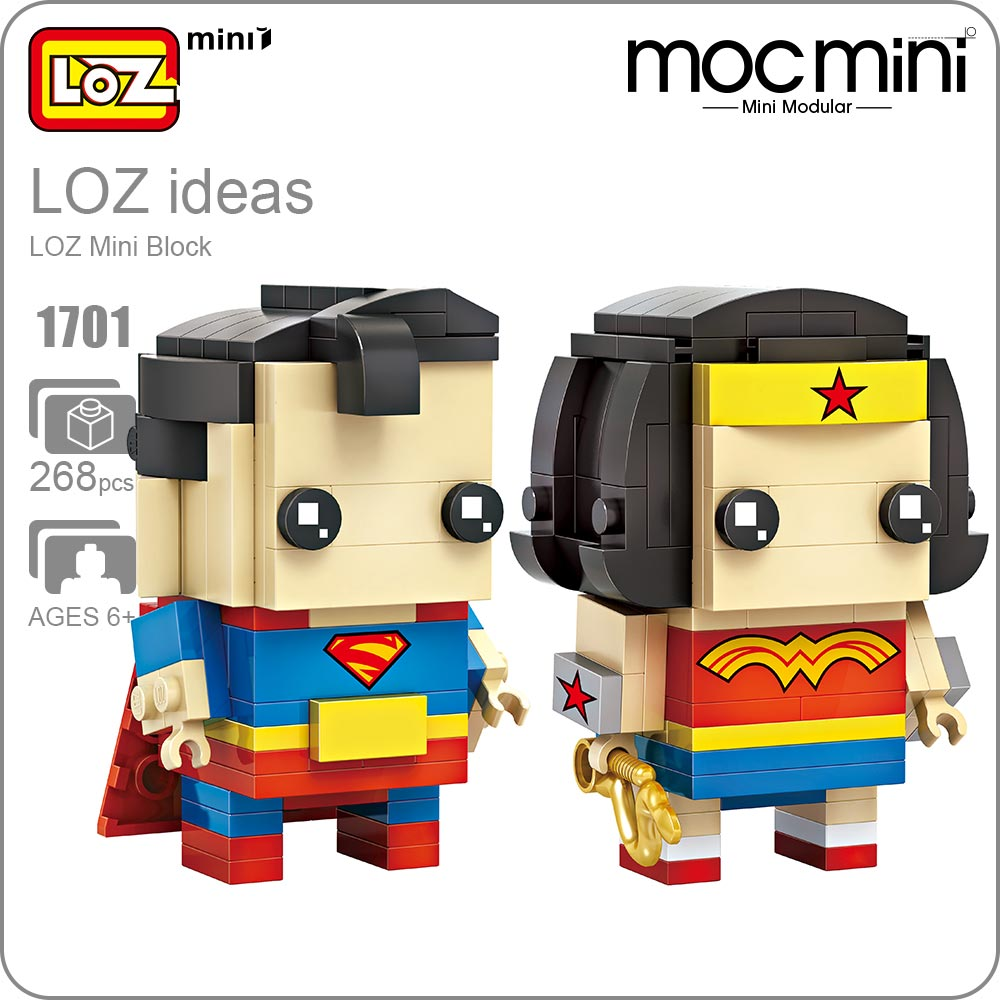LOZ Mini Blocks SuperHeroes Action Figure Doll Toys Super Heroes Assemblage Gift for Children Building Blocks DIY Models 1701 loz diamond blocks dans blocks iblock fun building bricks movie alien figure action toys for children assembly model 9461 9462