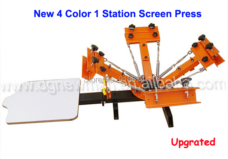 New Upgraded 4 color 1 station Silk Screen Printing Machine t-shirt Printer Press equipment carousel Free Shipping new style 468 colors carousel screen printing machine for t shirts