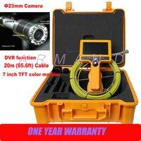 Ручной Водонепроницаемый сливной трубы инспекции Камера Системы DVR Промышленные 8 ГБ SD карты эндоскоп видео инспекционной 710DN SCJ
