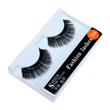1 Pairs Long Makeup Cross Thick False 3D Dense Eyelashes