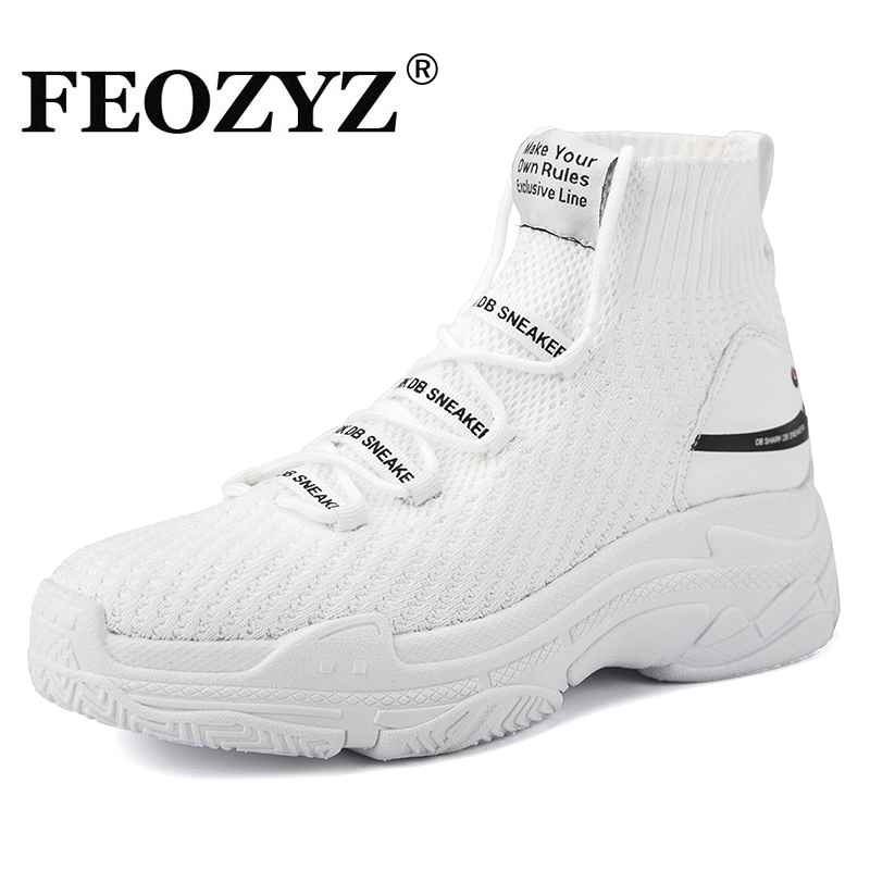quality design ea571 b3195 FEOZYZ Shark Sneakers Women Men Knit Upper Breathable Sport Shoes Chunky  Shoes High Top Running Shoes For Men Women