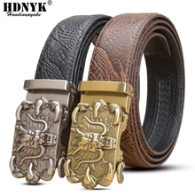 Promotion! 2014 NEW Brand Design Real Leather Belt Mens Genuine Man Luxury Men Belts Alloy Buckle Wholesale Price