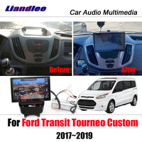 Liandlee Car For Ford Transit Tourneo Custom 2017~2019 Android Radio BT Camera Mirror link Carplay GPS Navi MAP Navigation Media