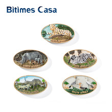 Bitimes 5PCS/Lot Wild Animal 3D Fridge Magnets South Africa Leopard Beast Travel Souvenirs Magnetic Refrigerator Sticker(China)