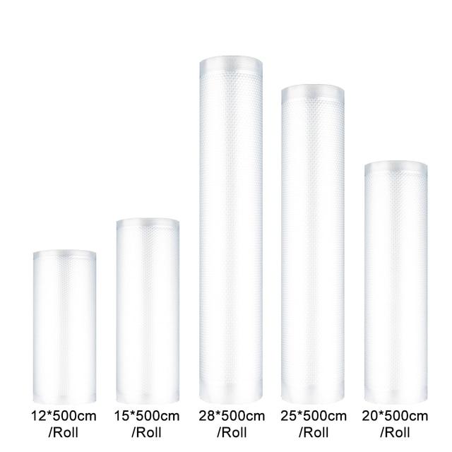 Vacuüm Sealer Eten Saver Zak Verpakking Rolls sous vide Plastic Tas Opbergzakken thuis Vacuüm Sealer 12/15/ 20/25/28 cm * 500 cm roll