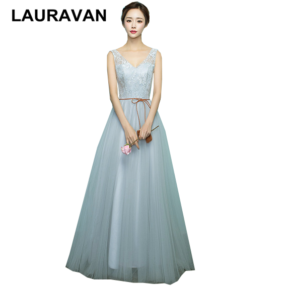 special floor length bandage girls dusty gray bridesmaid dress teen ...