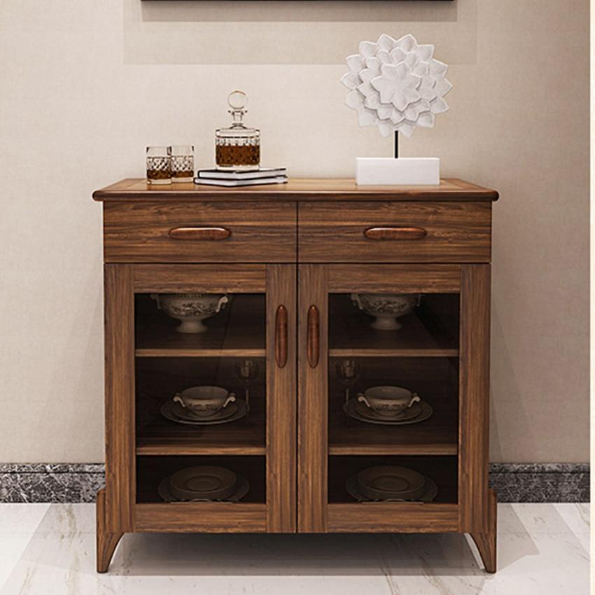 H07/08/09/10 armoire multifonction Style chinois salon petites armoires en bois cuisine Simple armoires de ménage offre spéciale - 3