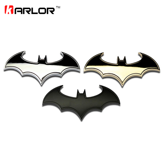 Batman Metal Car Logo 3D