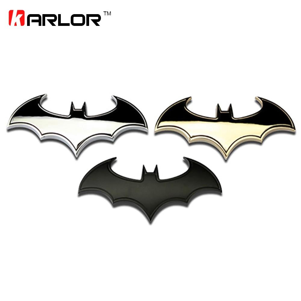 3D Cool Metal bat auto logo car styling car stickers metal batman badge emblem tail decal motorcycle car accessories automobiles
