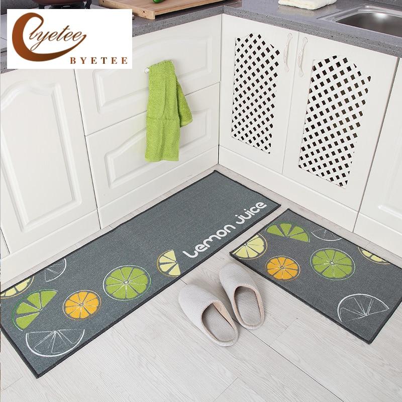 [byetee] Rugs For Kitchen Floor Door Mats Outdoor Mat Carpet Bathroom Waterproof Foot Cushion Home Mat Tapete Doormat Rug