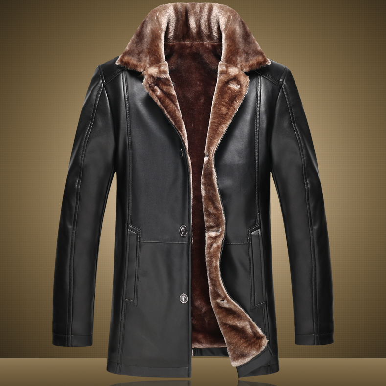 Men Leather Jacket Thicken Coat Pu Faux Jacket Short Jacket Suede Coat High Quality Made In China,m-3xl