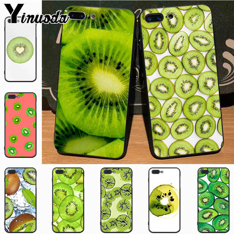 Yinuoda kiwi summer fruit green Diy Luxury High-end Protector phone Case for iPhone 7plus 6S 6plus 7  8 8Plus X 5 5S case cover