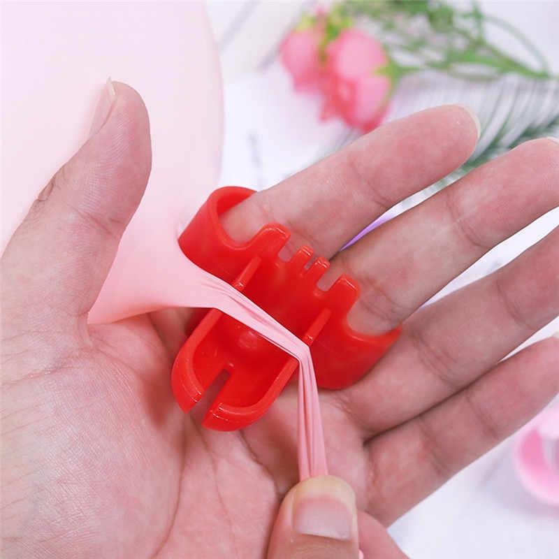 1 pçs 4 cores fontes de festa de casamento decorações de festa de aniversário crianças adulto balões de aniversário suporte balão nó amarrando ferramenta