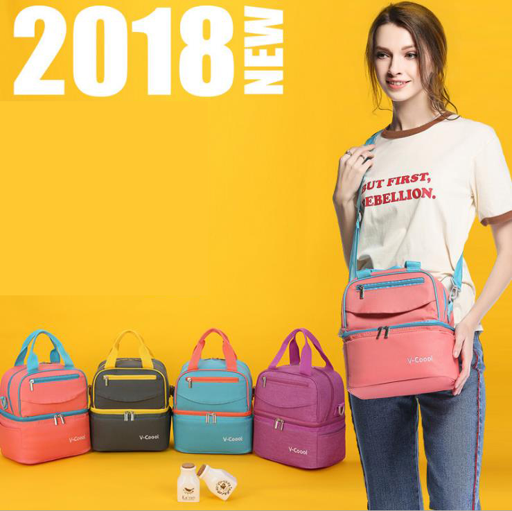 V-COOOL 2-Layer Fashion Insulated Baby Bottle Bag Feeding Milk Holder Warmer Thermal Maternity Messengers Diaper Bags 2018 CO