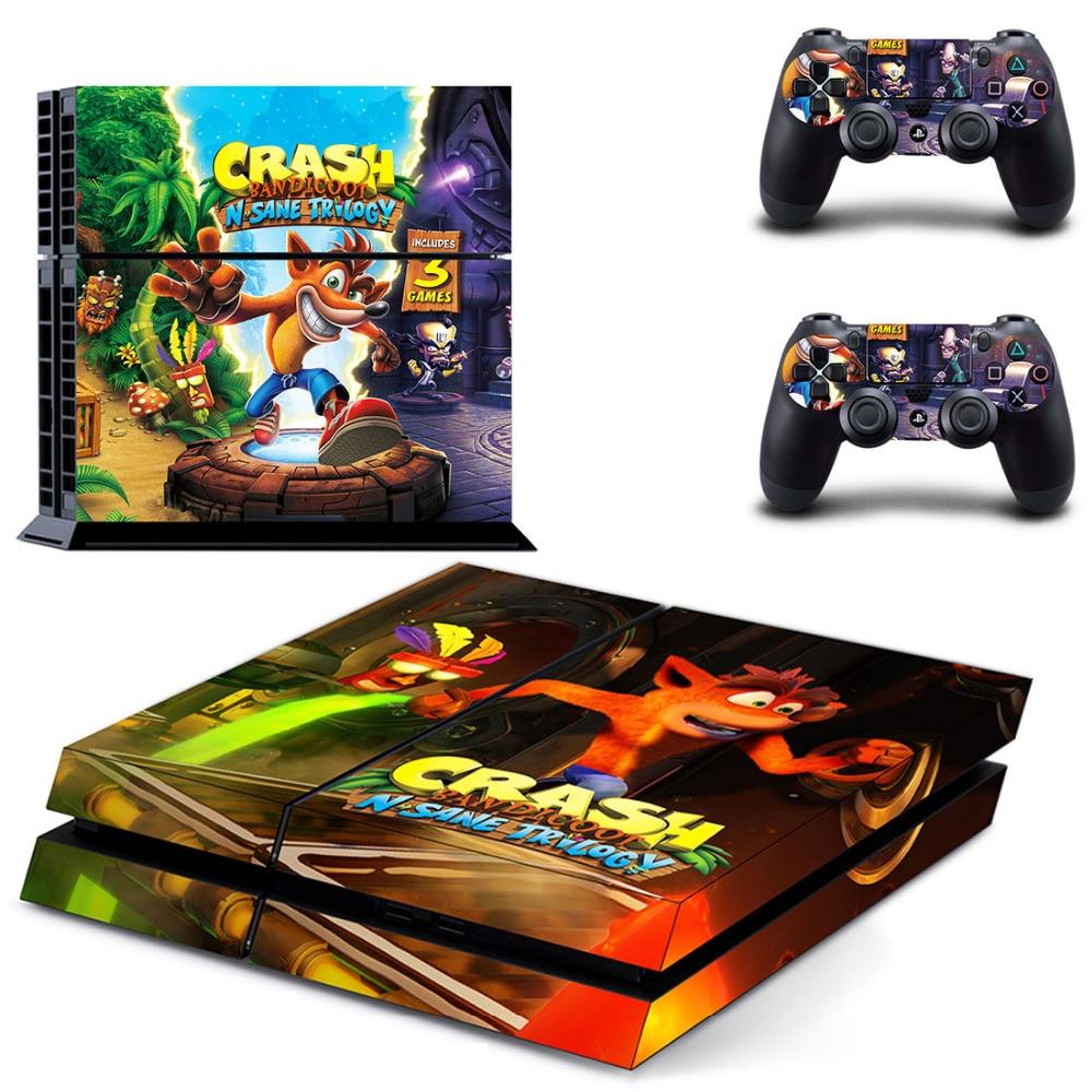 Crash Bandicoot N Sane Trilogy PS4 Skin Sticker Decal For