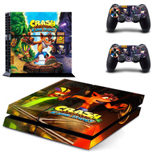 Crash Bandicoot N Sane Trilogy PS4 Skin Sticker Decal for Sony PlayStation 4 Console and 2 Controller Skin PS4 Sticker Vinyl game deals play station crash bandicoot n sane trilogy ps4