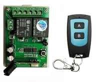 AK DC24V 2CH Radio Controller RF Wireless Relay Remote Control Switch 315 MHZ 433 MHZ Transmitter+1 Receiver /lamp/ window