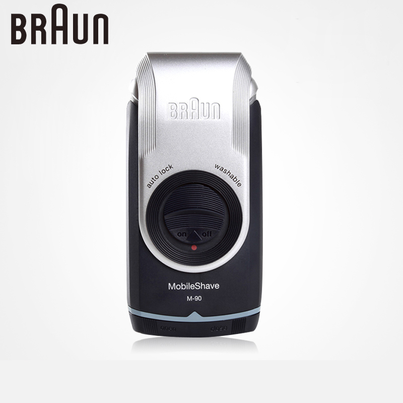 Braun Electric Shavers For Men M90 Electric <font><b>Razor</b></font> Washable Reciprocating Blades Face Care Beard Shaving Machine Dry Battery