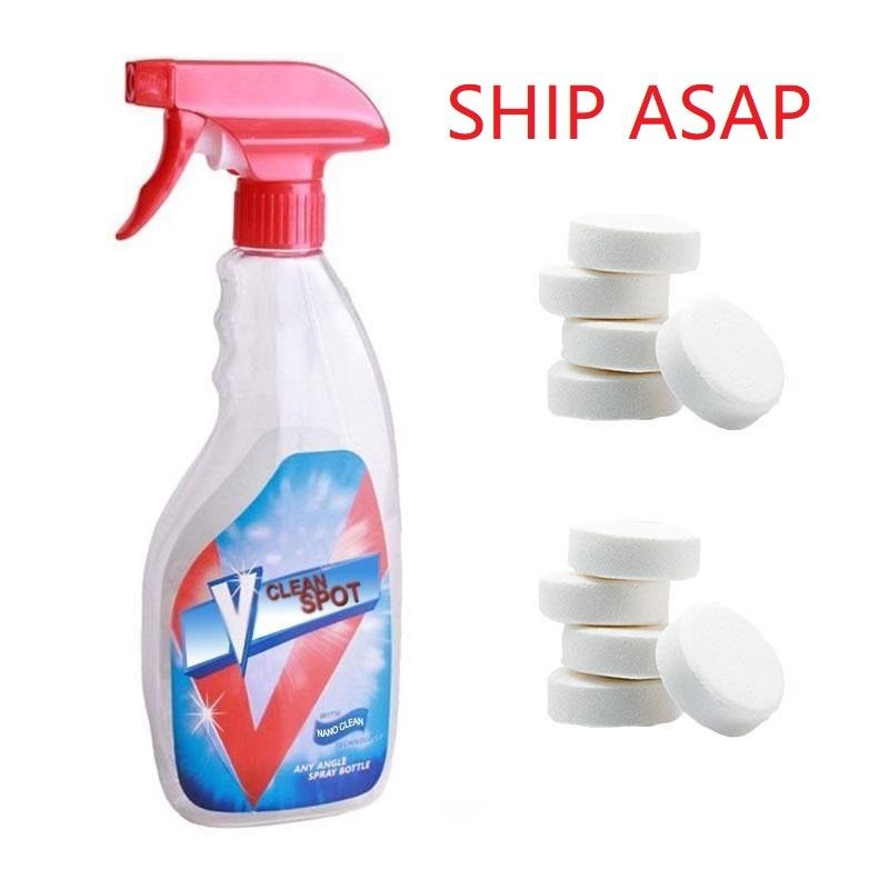 Multifunctional Effervescent Spray Cleaner Set V Clean Spot Home Cleaning Concentrate Effervescent Spray Cleaner  Dropshipping