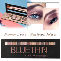 New 2018 Hot 12 Colors Eyeshadow Palette Waterproof Shimmer Glitter Eye Shadow Powder Palette Matt Cosmetic Makeup Eye Shadow Eye