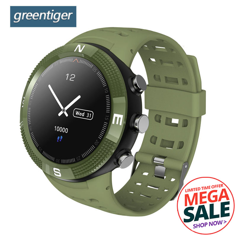 Greentiger F18 Smartwatch GPS Pedometer IP68 Waterproof Call Message Reminder Mens Women Bluetooth Sport Smart Watch