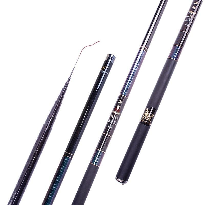 Ultralight super hard carbon fishing rod Stream rod carp fishing pole 3.6/4.5/5.4/6.3/7.2/8m short rod portable travel rod pesca