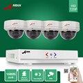 1080N ANRAN CCTV 4CH HDMI DVR AHD 720 P 30 IR dia e Noite Ao Ar Livre Vandal-Proof Câmera Dome Home Security Sistema de Vigilância IR-cut