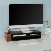 SoBuy FRG278 SCH, Monitor Stand Computer Screen Monitor Stand Monitor Riser Desk Organizer with Pen Pencil Holder