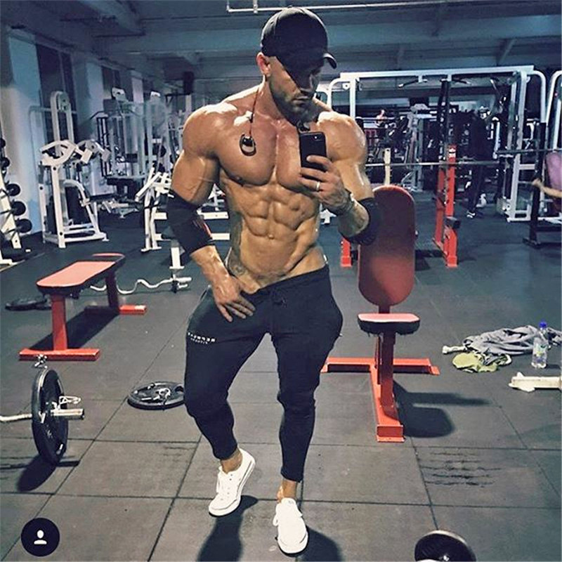 Autumn New Mens Joggers Pants Gyms Fitness Casual Fashion Brand Joggers Sweatpants Bottom Snapback Pants Men Casual Workout Pant(China)