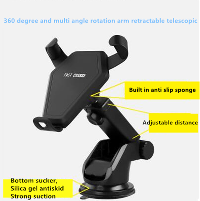 Car Qi Wireless Charger Fast Wireless Charging Car Phone Holder For Lexus rx350 rx gs is250 gs300 rx300 nx rx330 gx4 accessories Lexus RX