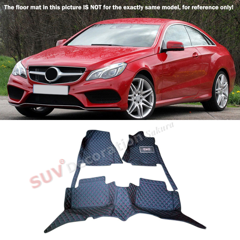 For Mercedes-Benz E Class W212 2014 2015  Car-Styling !  Accessories Interior Leather Carpets Cover Car Foot Mat Floor Pad 1set for vw volkswagen tiguan second generation 2016 2017 interior artificial leather floor carpets foot mat car styling
