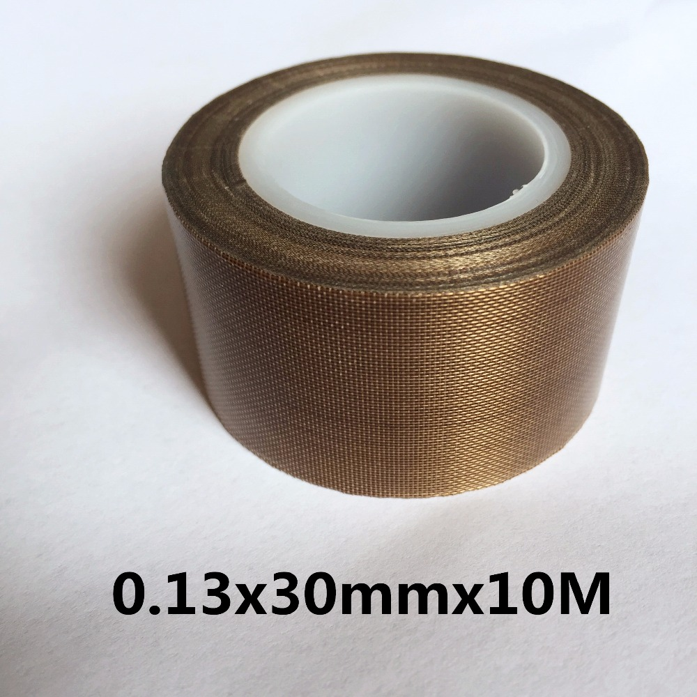 0.13mm x30mm x10M PTFE Teflon Adhesive Tape Nonstick 1PC XWJ