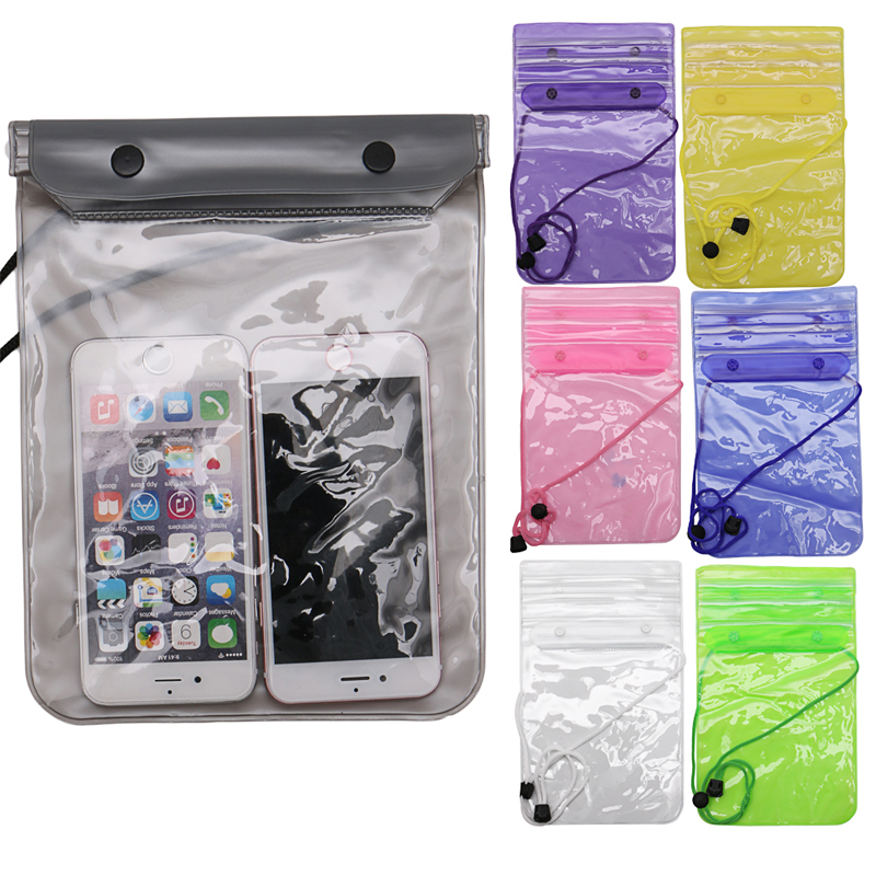 Mobile Phone Waterproof Pouch Float Bag Holder Dry Protection Outdoor Swimming W15