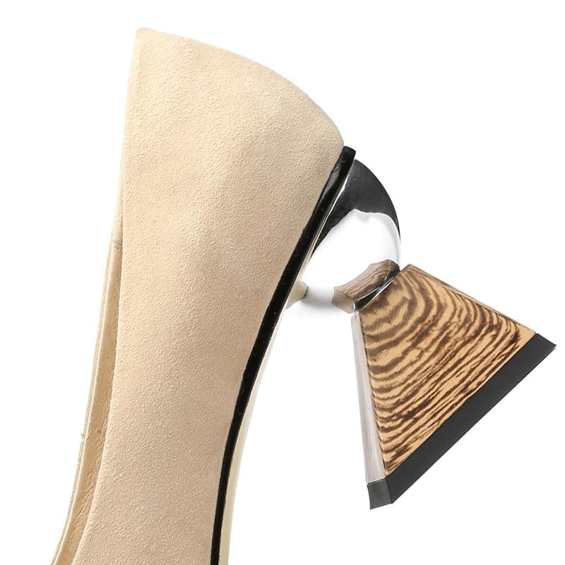 on Zapatos 39 Bombas black Casuales Beige Básicas Punta Slip 34 Anmairon Ly523 Mujer Gamuza De Extraño Chico Estilo 2018 Talla Moda OnxxRBY