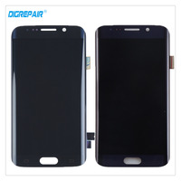 100 Tested Black Blue For Samsung Galaxy S6 Edge SM G925F LCD Display Digitizer Touch Screen